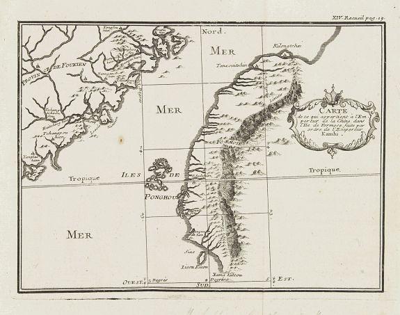 Father DE MAILLA, S.J. - Carte de ce qui appartient a L'Empereur de la Chine dans L'Isle de Formose faite par ordre de L'Empereur Kamhi