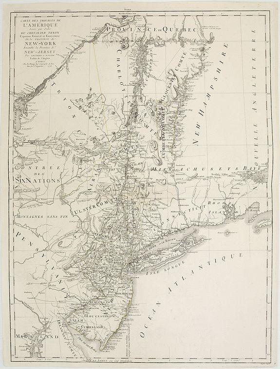 LE ROUGE, G.L. -  Carte des troubles De L'Amerique Levée par Ordre du Chevalier Tryon. . . New-York.. Jersey..