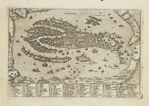 VALEGIO VENETIA Venice - Antique maps amsterdam