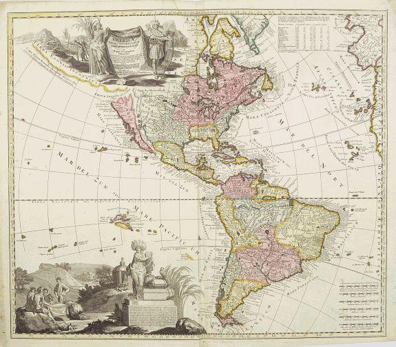 SCHENK,P. -  America tam Septentrionalis quam Meridionalis..