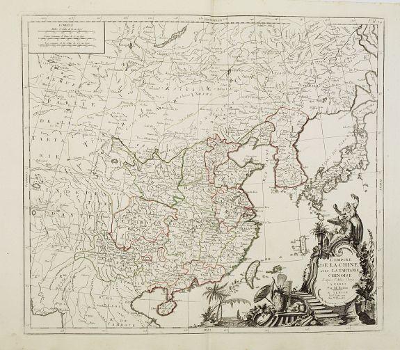 SANTINI, P. / REMONDINI, M. -  L'Empire de la Chine avec la Tartarie Chinoise. . .