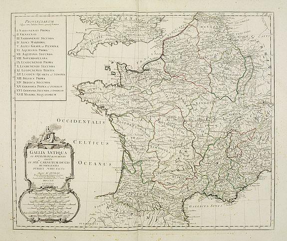 SANTINI,P. /REMONDINI,M. -  Gallia Antiqua ex Aevi Romani monumentis eruta..