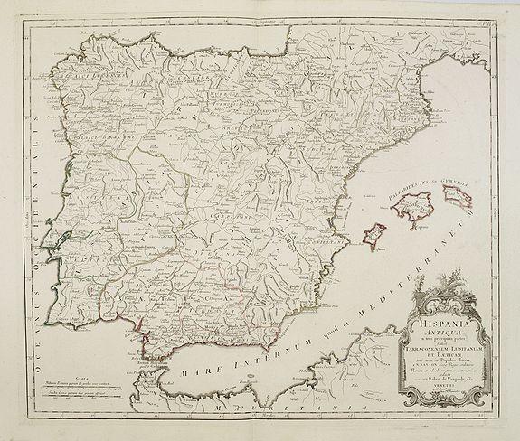 SANTINI, P. / REMONDINI, M. -  Hispania Antiqua in tres praecipuas partes..