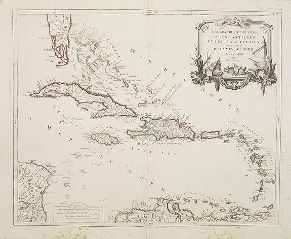 SANTINI, P. / REMONDINI, M. -  Les grandes et petites isles Antilles, et les isles Lucayes..