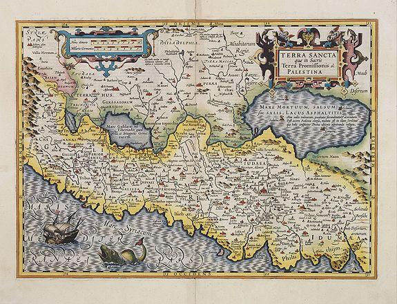 HONDIUS, H. -  Terra Sancta quae in Sacris Terra Promissionis ol: Palestina.