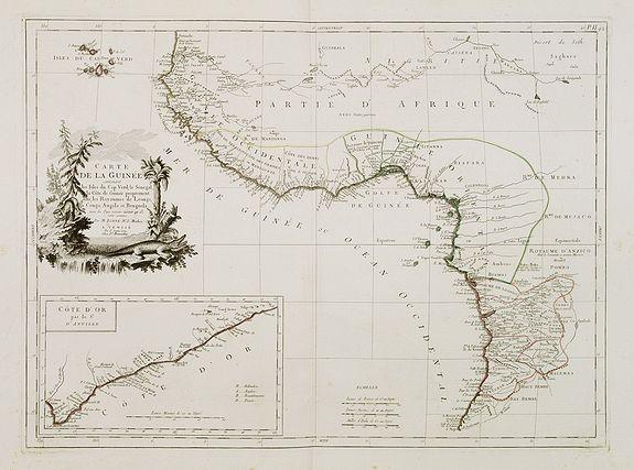 SANTINI, P. / REMONDINI, M. -  Carte de la Guinée contenant les Isles du Cap Verd, le Senegal, la Côte de Guinée proprement dite, les Royaumes de Loango, Congo..