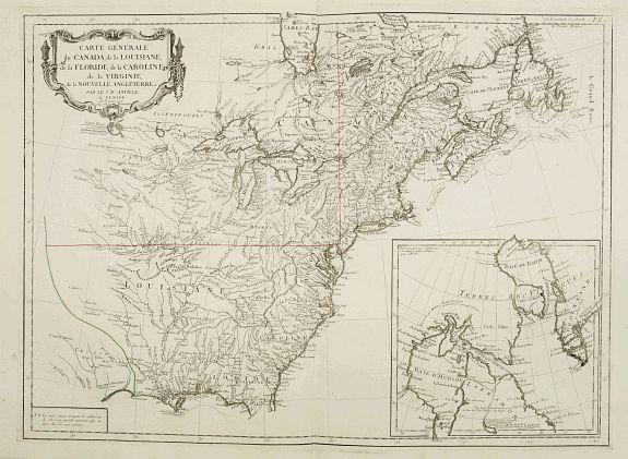SANTINI, P. / REMONDINI, M. -  Carte Générale du Canada, de la Louisiane, de la Floride, de la Caroline..