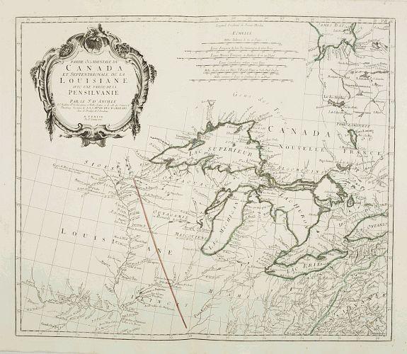SANTINI, P. / REMONDINI, M. -  Partie Occidentale du Canada et Septentrionale de la Louisiane..