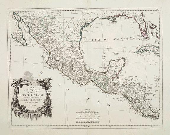 SANTINI, P. / REMONDINI, M. -  Carte du Mexique et de la Nouvelle Espagne..