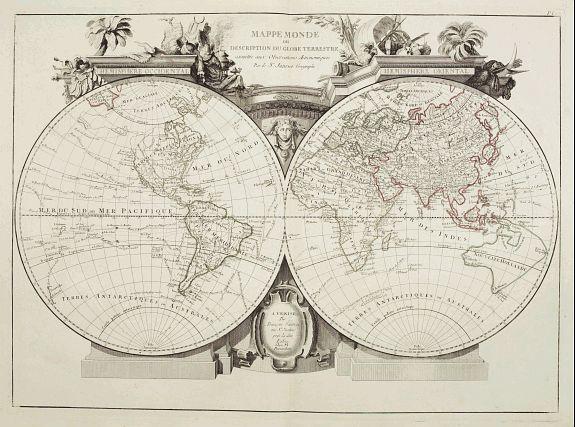 SANTINI, P. / REMONDINI, M. -  Mappa Monde ou description du globe terrestre . . .