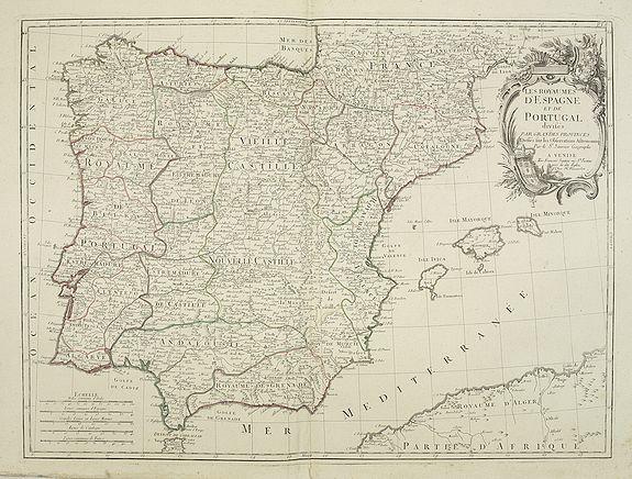 SANTINI, P. / REMONDINI, M. -  Les Royaumes d'Espagne et de Portugal, divisés Par Grandes Provinces..