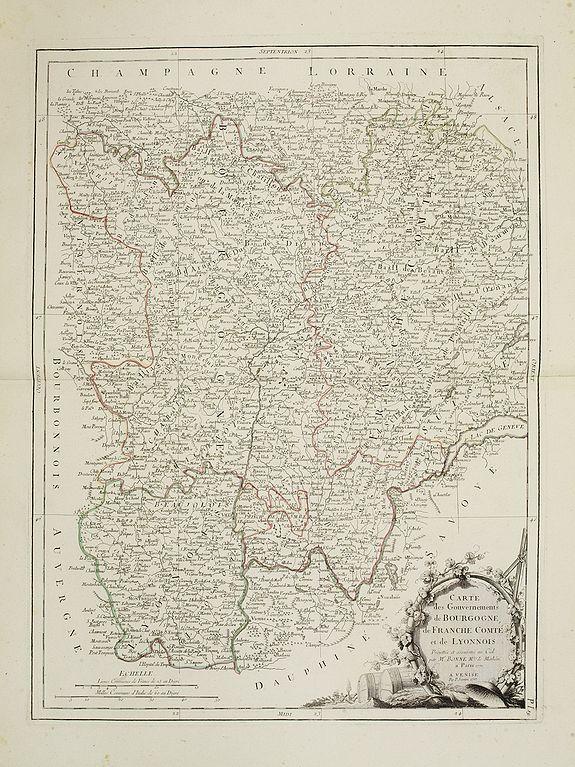 SANTINI, P. / REMONDINI, M. -  Gouvernements de Bourgogne, de Franche Comté et de Lyonnois.