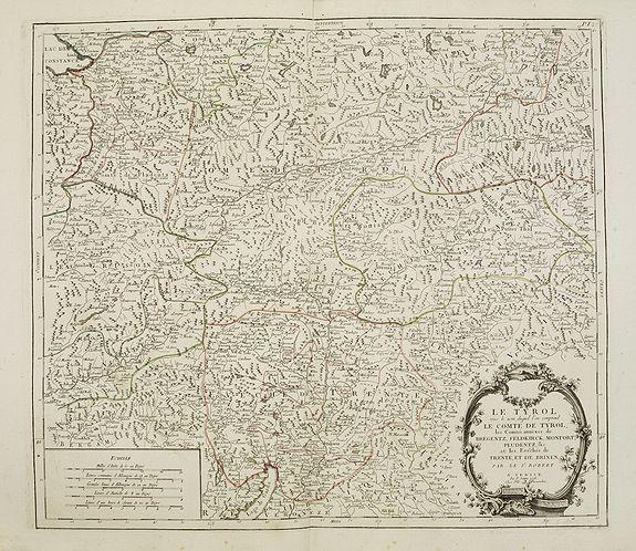 SANTINI, P. / REMONDINI, M. -  Le Tyrol sous le nom duquel l'on comprend Le comté de Tyrol..