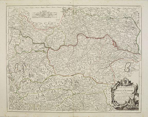 SANTINI, P. / REMONDINI, M. -  Partie Septentrionnale du Cercle d'Autriche..  Duché de Stirje.