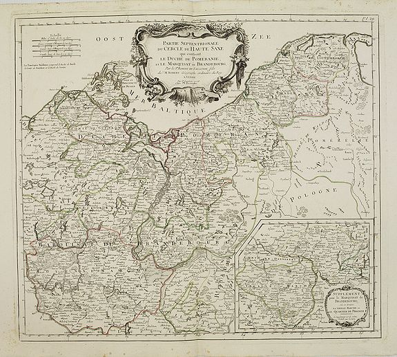 SANTINI,P. /REMONDINI,M. -  Partie saptentrionale du cercle de Haute Saxe.. Brandebourg.