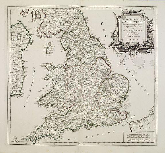 SANTINI, P. / REMONDINI, M. -  Le royaume d'Angleterre..subdivisé en Shires ou Comtés.