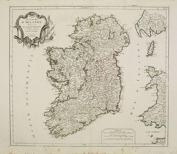 SANTINI, P. / REMONDINI, M. -  Royaume d'Irelande.. et subdivisé en Comtés.