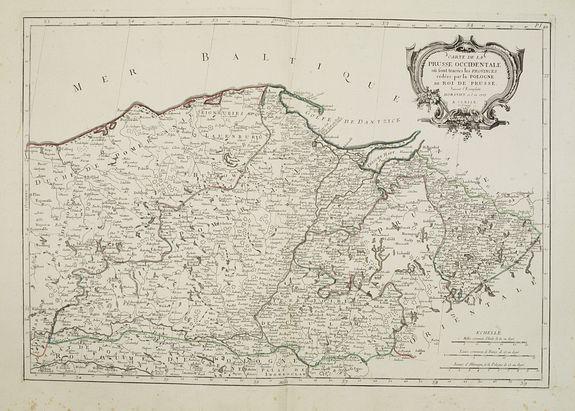 SANTINI,P. /REMONDINI,M. -  Carte de la Prusse Occidentale.. au Roi de Prusse.