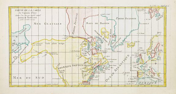 DE VAUGONDY, R. -  Partie de la Carte du Capitaine Cluny Auteur d'un ouvrage anglois intitulé American Traveller publié à Londres en 1769.