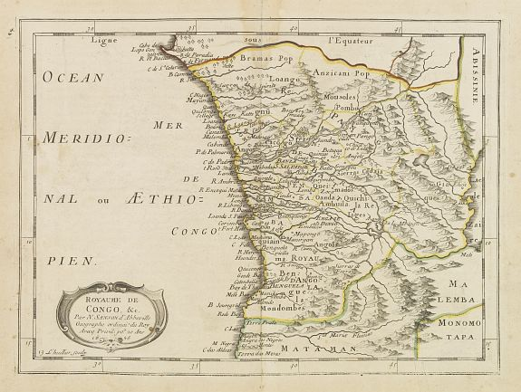 SANSON, N. -  Royaume de Congo & c. . .