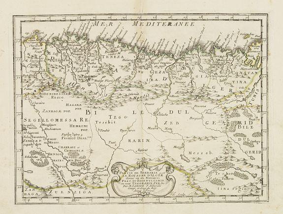 SANSON, N. -  Partie de la Barbarie ou est le royaume d'Alger. . .