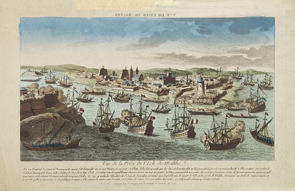 CHEREAU, J. -  Vue de la Prise de l'Isle de Malthe.