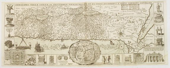 ANONYMOUS,  Chorographia Terrae Sanctae in Angustiorem. . ., antique map, old maps