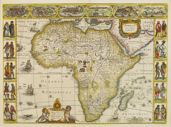 HONDIUS, H. / JANSSONIUS, J. -  Africae nova Tabula.