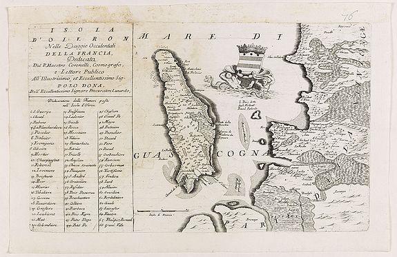 CORONELLI, V. M. -  Isola d'Oleron, nella piaggie occidentali della Francia.