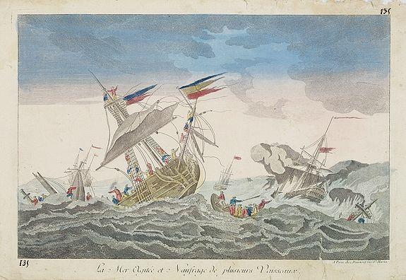 DAUMONT -  La Mer Agitée et Naufrage de plusietrs Vassseaux.