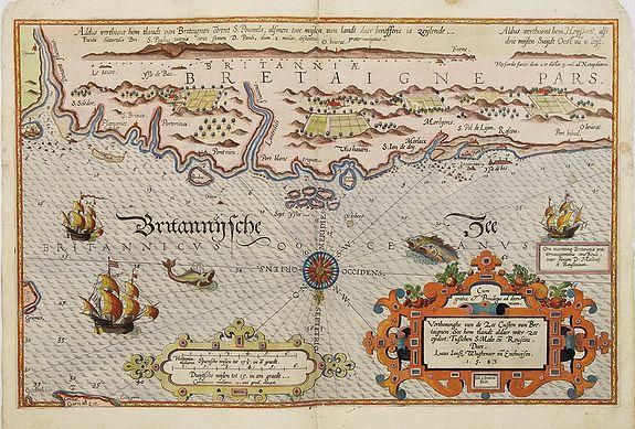 WAGHENAER, L. J. -  Verthoninghe van zee Cuften van Bretaignen. . .