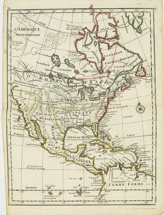 LE ROUGE, G.L. -  L'Amerique Septentrionale.