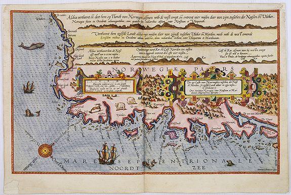 WAGHENAER, L. J. -  Die zee custe van Noorweghen tusschen der Noess en Mardou. . .