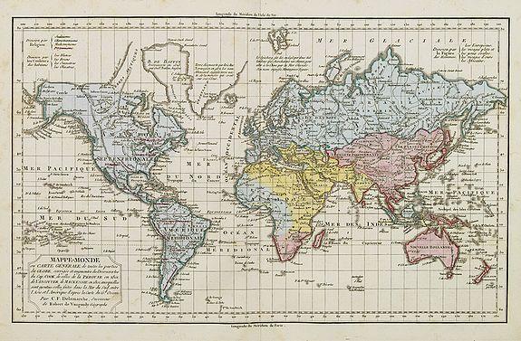 DELAMARCHE, C.F. -  Mappe-Monde ou Carte Générale de toutes les Parties connues..