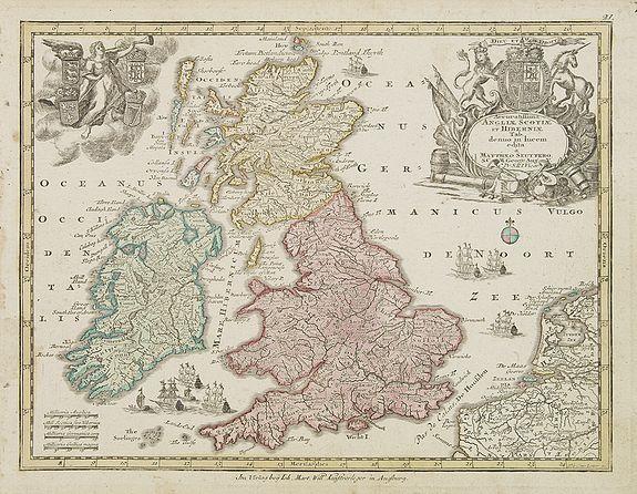 SEUTTER, M. -  Accuratiffima Angliae Scotiae et Hiberniae. . .