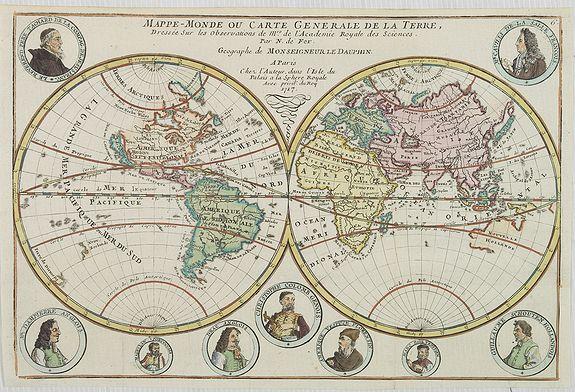 FER, N. de -  Mappe-Monde ou Carte Generale de la Terre..