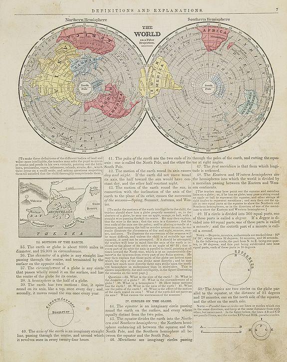 MORSE, S.E. - The World Northern & Southern hemisphere.