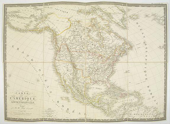 BRUÉ, A. -  Carte de l'Amerique septentrionale Rédigée par A.H.Brué géographe.