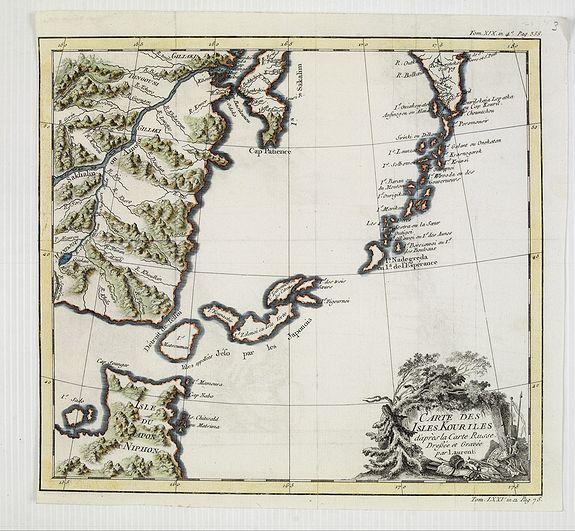 BELLIN, J.N. -  Carte des Isles Kouriles.