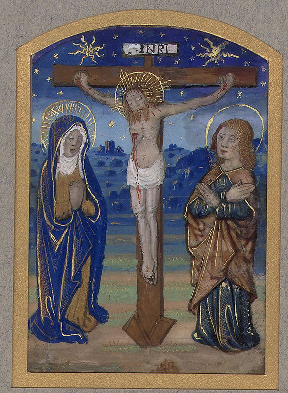 Master de Liénart Barronnat -  Miniature of The Crucifixion of Christ.