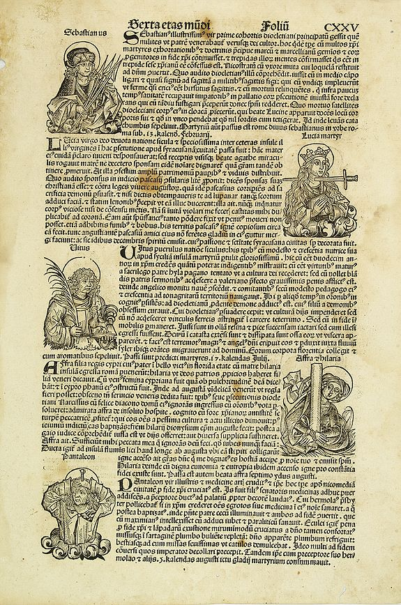 SCHEDEL, H. -   [Text page with Saints and Martyrs, folio CXXV ].