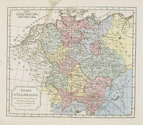 VAUGONDY, R. de / DELAMARCHE. -  Empire d'Allemagne. . .