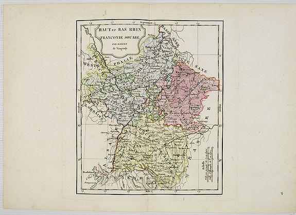 VAUGONDY, R. de / DELAMARCHE. -  Haut et Bas Rhin Franconie Souabe.