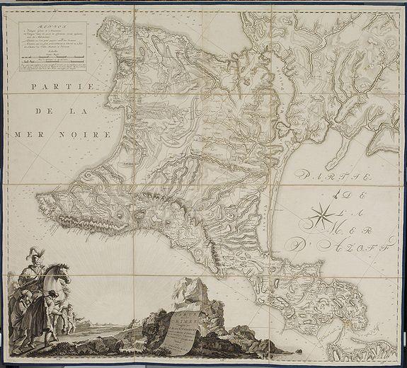 KINSBERGEN, J.H. van -  [Crimea]. Carte de la Cromée.
