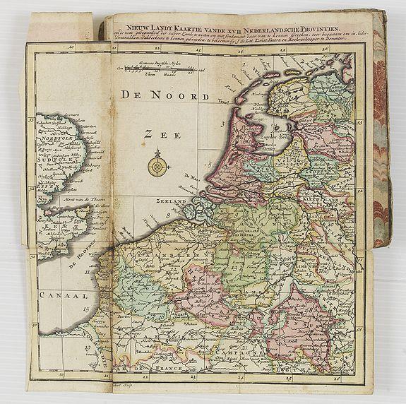 LAT, Jan de -  Niew Landt Kaartie Vande XVII Nederlandsche Provintien.