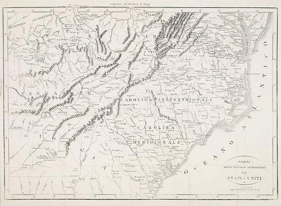 BOTTO, C. -  Carta delle provincie meridionali degli Stati - Uniti.