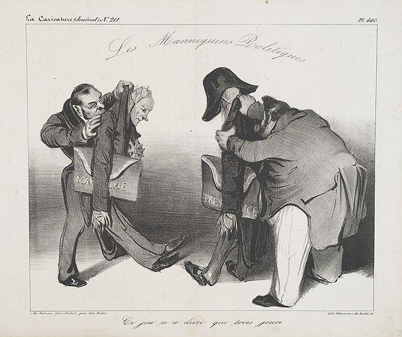 DAUMIER, H. -  Ce jeu n'a duré que trois jours. (Plate 440 in la Caricature).