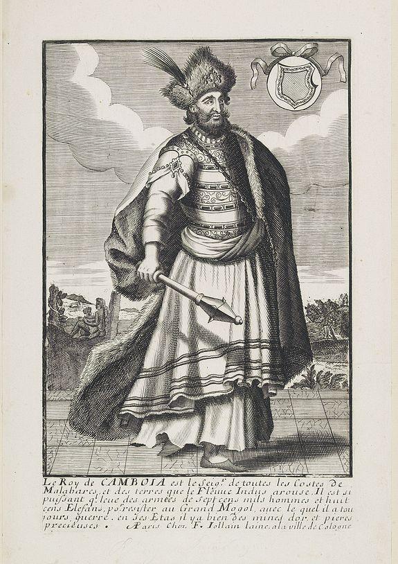 JOLLAIN, F. -  Le Roy de Camboia est le Seig.r de touts les Costes de Malabares, et des  terres que le Fleuve Indus. . .