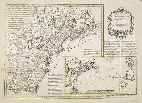 MOITHEY, M.A. -  Carte Nouvelle des Posséssions Angloises en Amérique. . .