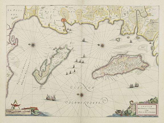 BLAEU, J. -  Insulae Divi Martini et Uliarus, vulgo L'Isle de Ré.. Oleron.